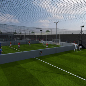 Our 10 outdoor fields are made with the latest generation of artificial turf imported from Italy